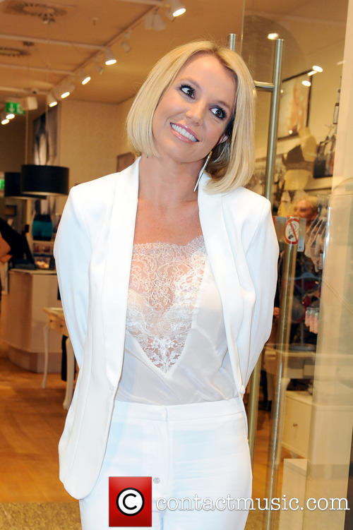 Britney Spears at lingerie launch in Germany