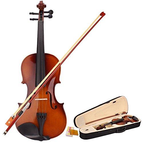 YR-Seasons 3/4 Size Violin Fiddle Kit Set with Hard Case +