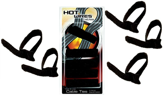 On Stage CTA6600 Velcro Cable Ties – 5 Pack, Black