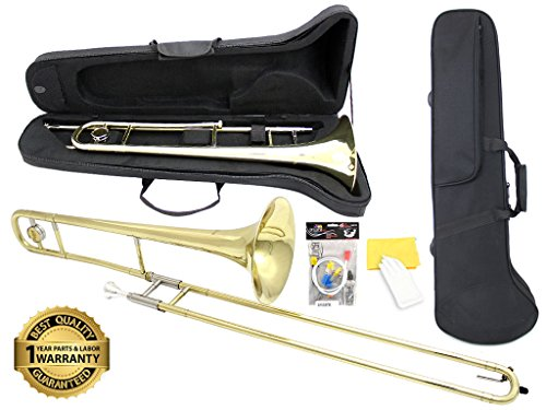 D'Luca 750L 750 Series Brass Bb Tenor Slide Trombone,