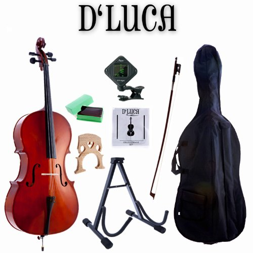 D'Luca MC100-1/10 Meister Student Cello 1/10 Package with