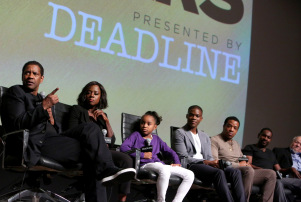 Mandatory Credit: Photo by Buchan/DDH/REX/Shutterstock (7316889au) Denzel Washington, Viola Davis, Saniyya Sidney, Jovan Adepo, Russell Hornsby, Mykelti Williamson, and Stephen Henderson Paramount Picures panel at The Contenders 2016: Presented by Deadline, Los Angeles, USA - 05 Nov 2016
