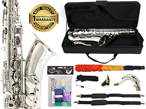 D'Luca 370N 370 Series Plated Bb Tenor Saxophone with F#