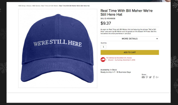 """HBO Is Selling Bill Maher's Blue """"We're Still Here"""""""