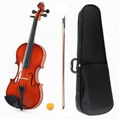 ADM 1/8 Size Handcrafted Solid Wood Student Violin with