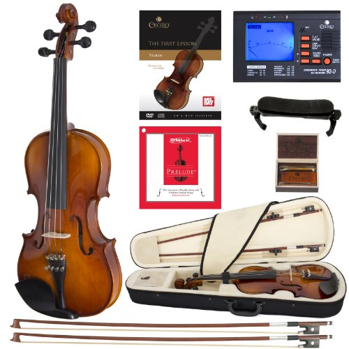Cecilio CVN-300 Solidwood Ebony Fitted Violin with