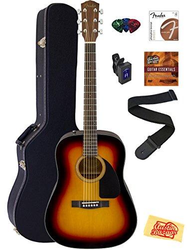 Fender CD-60 Dreadnought Acoustic Guitar Bundle with Hard