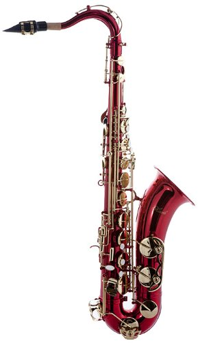 Hawk WD-S411C-RD Tenor Saxophone with Case, Mouthpiece and