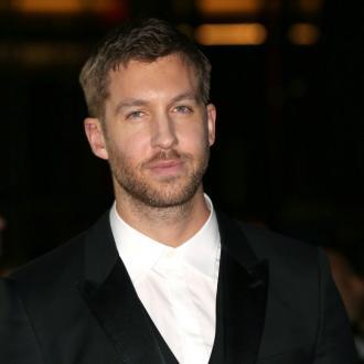 Calvin Harris growing beard for BRITs