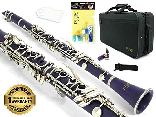 D'Luca 200PR 200 Series ABS 17 Keys Bb Clarinet, Double