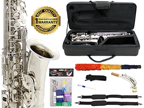 D'Luca 350N 350 Series Plated Eb Alto Saxophone with F#