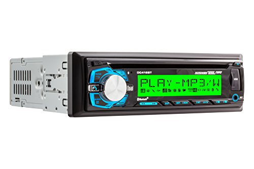 Dual DC416BT Single-DIN CD Receiver with 3.7-Inch Wide LCD