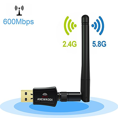 ANEWKODI 600Mbps Dual Band (2.4G/150Mbps+5G/433Mbps)