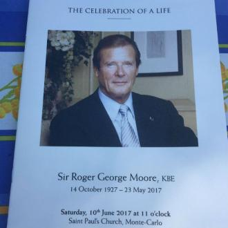 Private memorial held for Sir Roger Moore