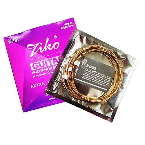 ZIKO,100% Phosphor Bronze Acoustic Guitar Strings,Highest