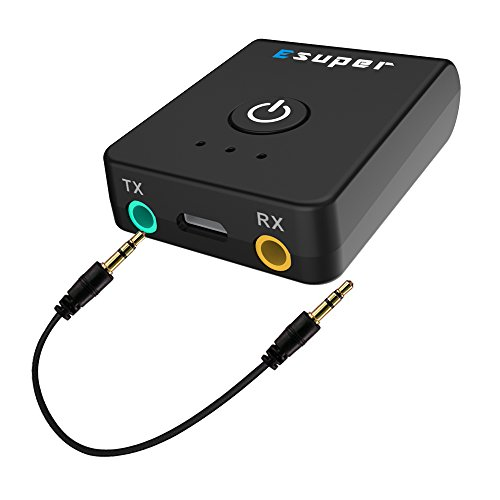 Esuper Bluetooth transmitter receiver 2 in 1 wireless 3.5mm