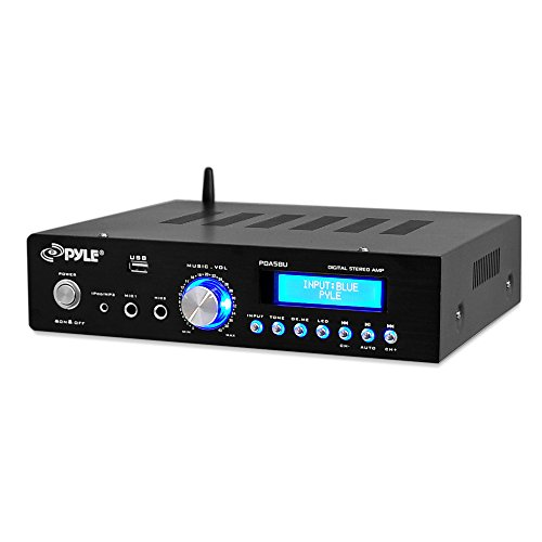 Pyle Bluetooth Stereo Amplifier – Compact Home Audio