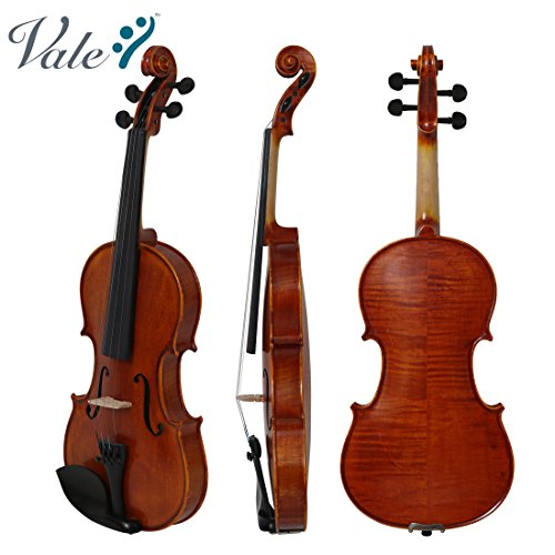 VALE 4/4 Full Size Violin with Case Handmade Flamed Maple