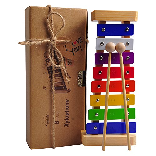 HappyFishes Xylophone with Bright Multi-Colored Keys,