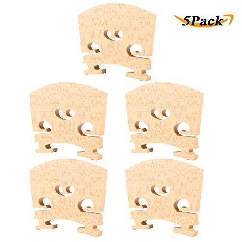 LEAGY 5Pack Teller Violin Bridge Maple 4/4 Ebony Insert
