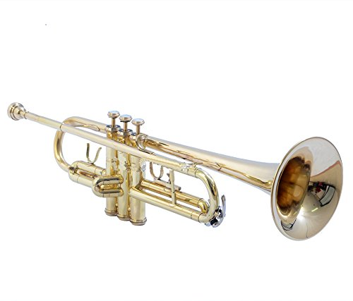 BEST TRUMPET Bb PITCH FOR SALE BRASS BIG BELL WITH FREE