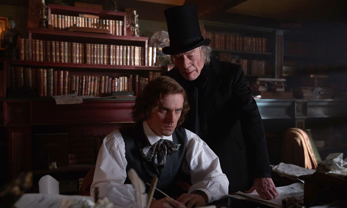 Dan Stevens and Christopher Plummer in 'The Man Who Invented Christmas'