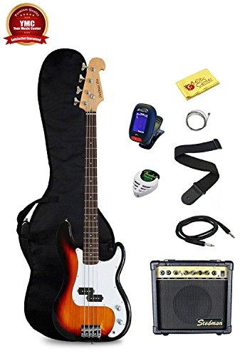 Stedman Pro Beginner Series Bass Guitar Bundle with