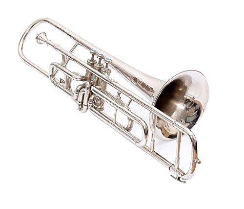 NASIR ALI NICKEL SILVER TROMBONE Bb PITCH FOR SALE WITH