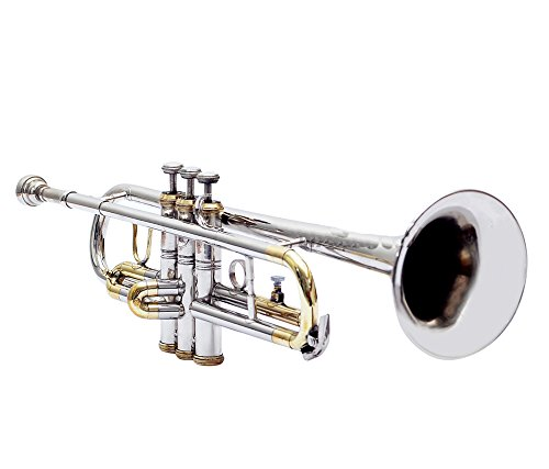 TRUMPET Bb PITCH FOR SALE BRASS + NICKEL SILVER COLOR WITH