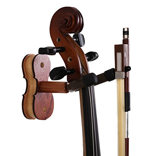 Violin Hanger With Bow Hanger Wall Mount for Viola Violin
