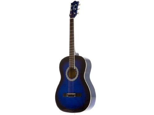 Fever FV-030-BL 3/4 38-Inch Acoustic Guitar, Blueburst