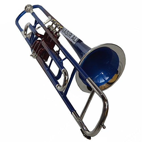 TROMBONE Bb PITCH MULTI COLORED WITH FREE HARD CASE AND MP
