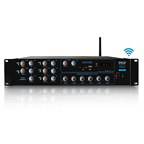 Pyle 6-Channel Powered Audio Component Amplifier, Black