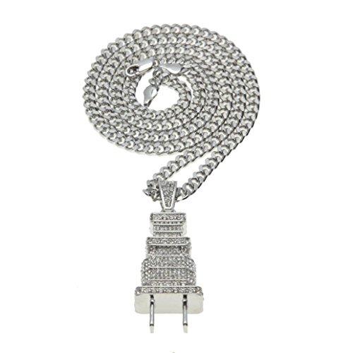 Hot Sale Necklace,Han Shi Elegant Diamond Bling Power Plug