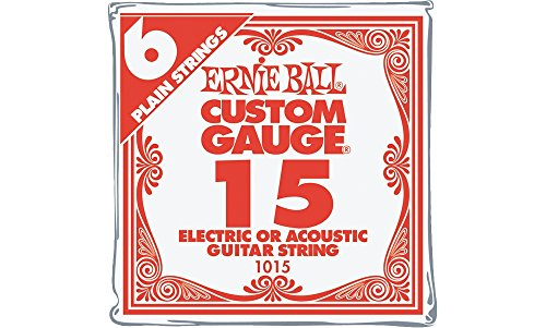 Ernie Ball Nickel Plain Single Guitar String .015 Gauge