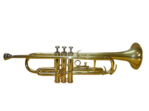 OSWAL Bb Flat Brass Finishing Trumpet With Free Hard