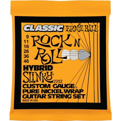 Ernie Ball Classic Pure Nickel Hybrid Slinky Set, .009 –