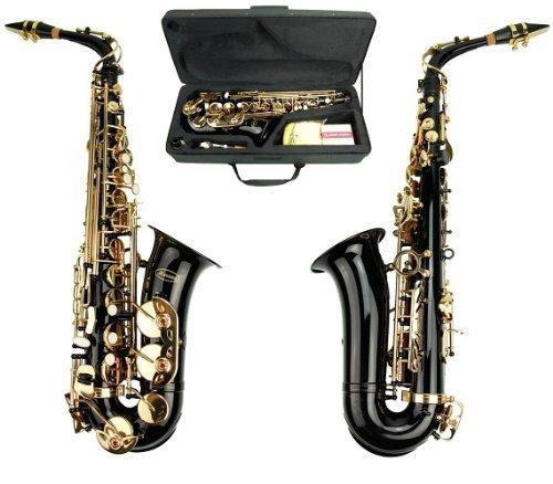 Merano E Flat Black Alto Saxophone with Zippered Hard Case