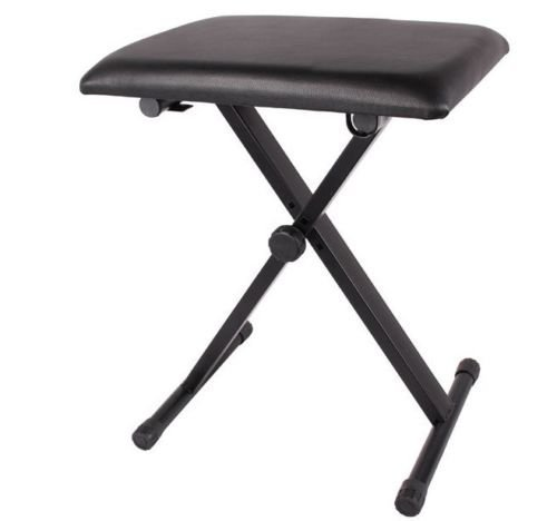 Black Adjustable Piano Bench Piano Keyboard Chair Padded
