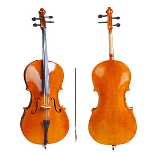 Hot Sale 4/4 Full Size BassWood Cello Set Natural Color
