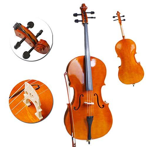 Hot Sale Beginner 3/4 Size BassWood Cello Set Natural Color