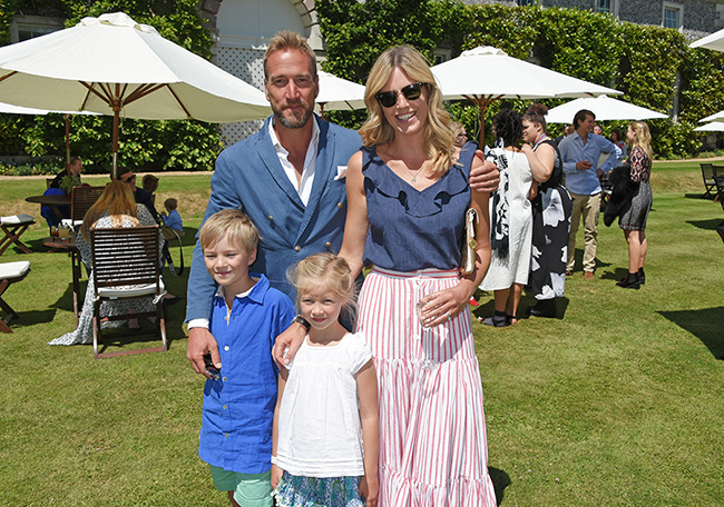 ben-fogle-and-wife-marina-and-children-at-cartier-event